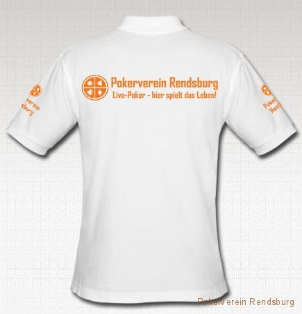 shirt hinten weiss Pokerverein Rendsburg