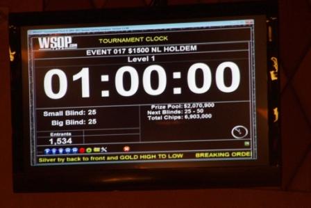 Start Event No.17 WSOP