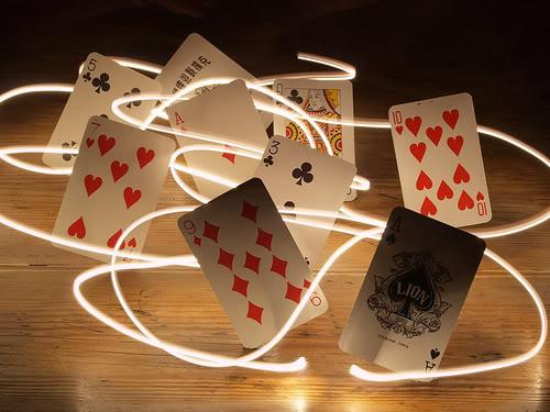Dancing Poker Cards